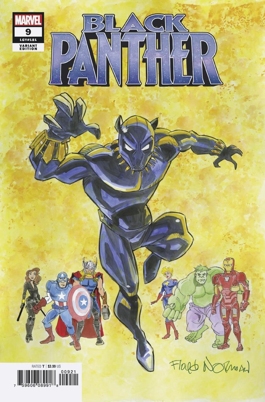 Black Panther Vol 7 #9 Cover B Variant Floyd Norman Cover