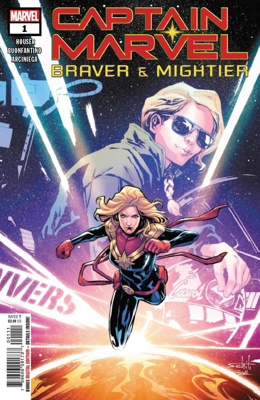 Captain Marvel Braver & Mightier #1 Cover A Regular Valerio Schiti Cover
