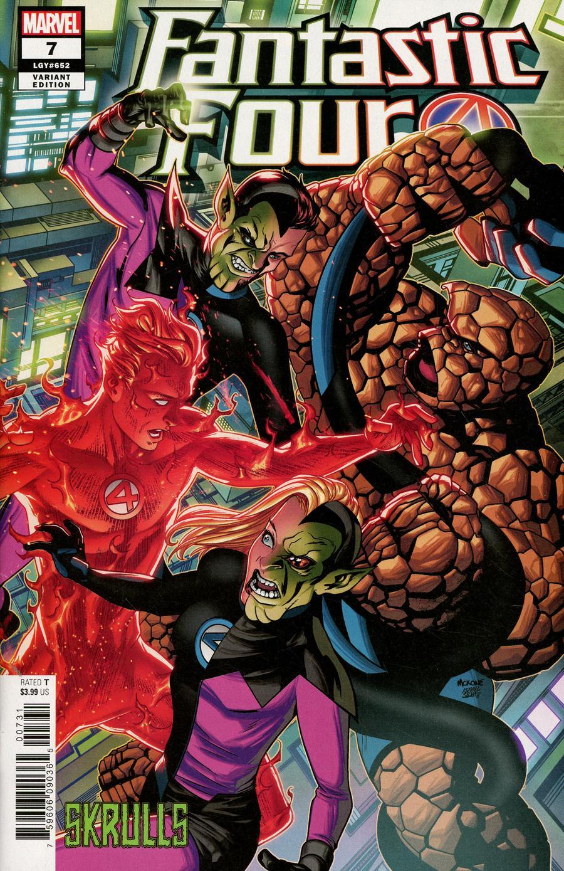 Fantastic Four Vol 6 #7 Cover B Variant Mike McKone Skrulls Cover