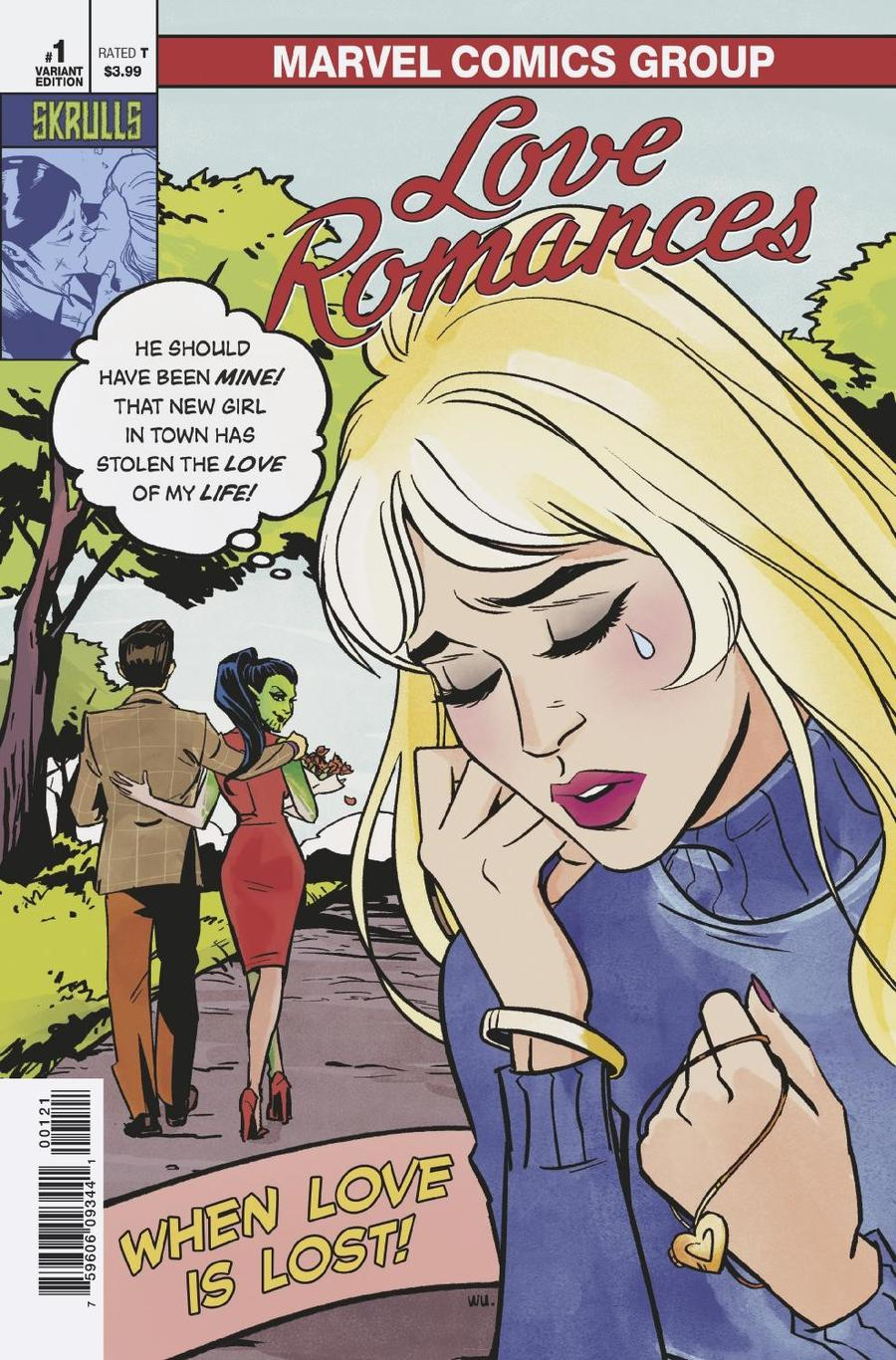 Love Romances One Shot Cover C Variant Annie Wu Skrulls Cover