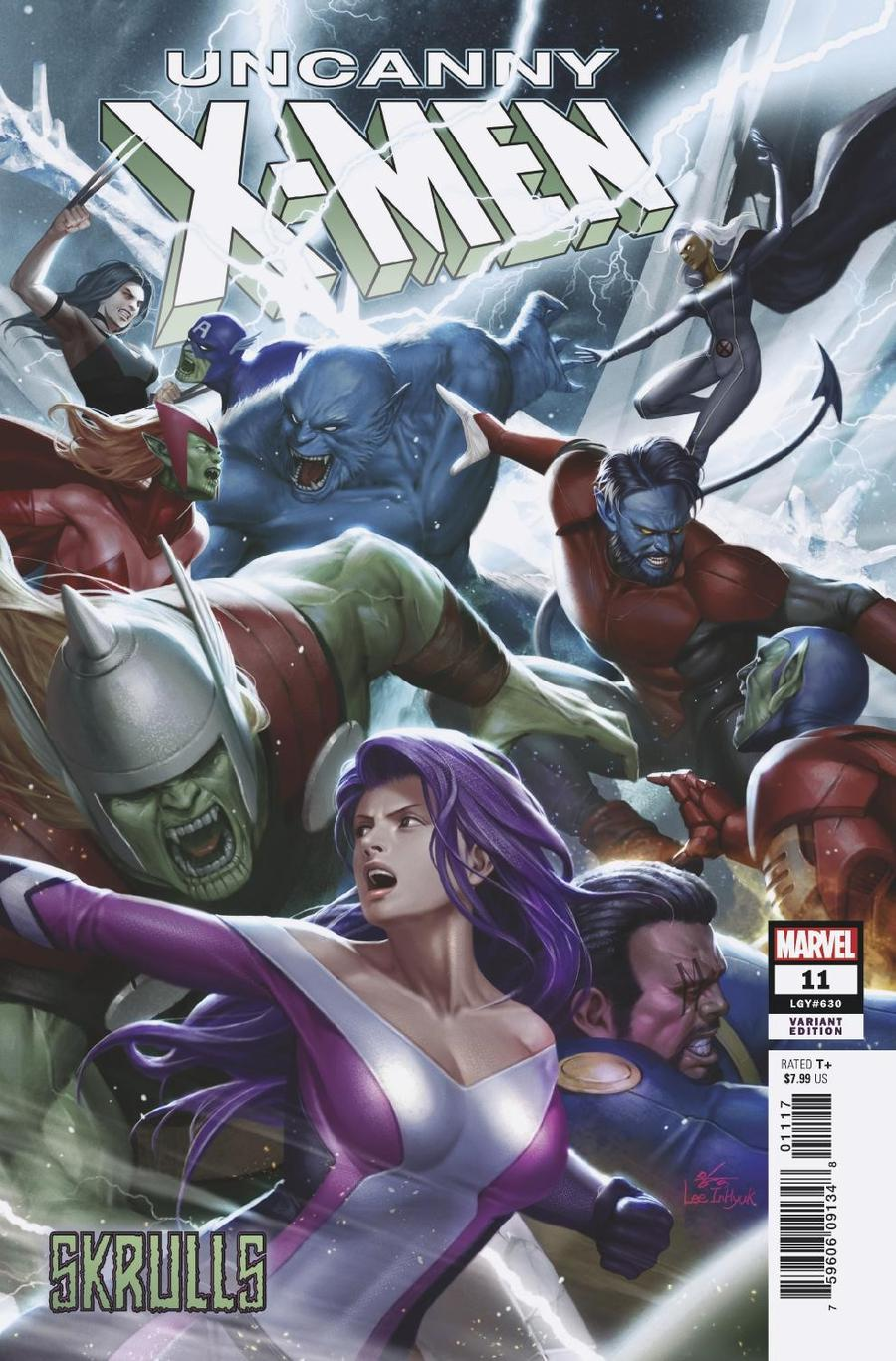 Uncanny X-Men Vol 5 #11 Cover E Variant Inhyuk Lee Skrulls Cover