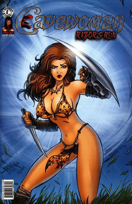 Cavewoman Razors Run #1 Cover A Regular Andrew Mangum Cover