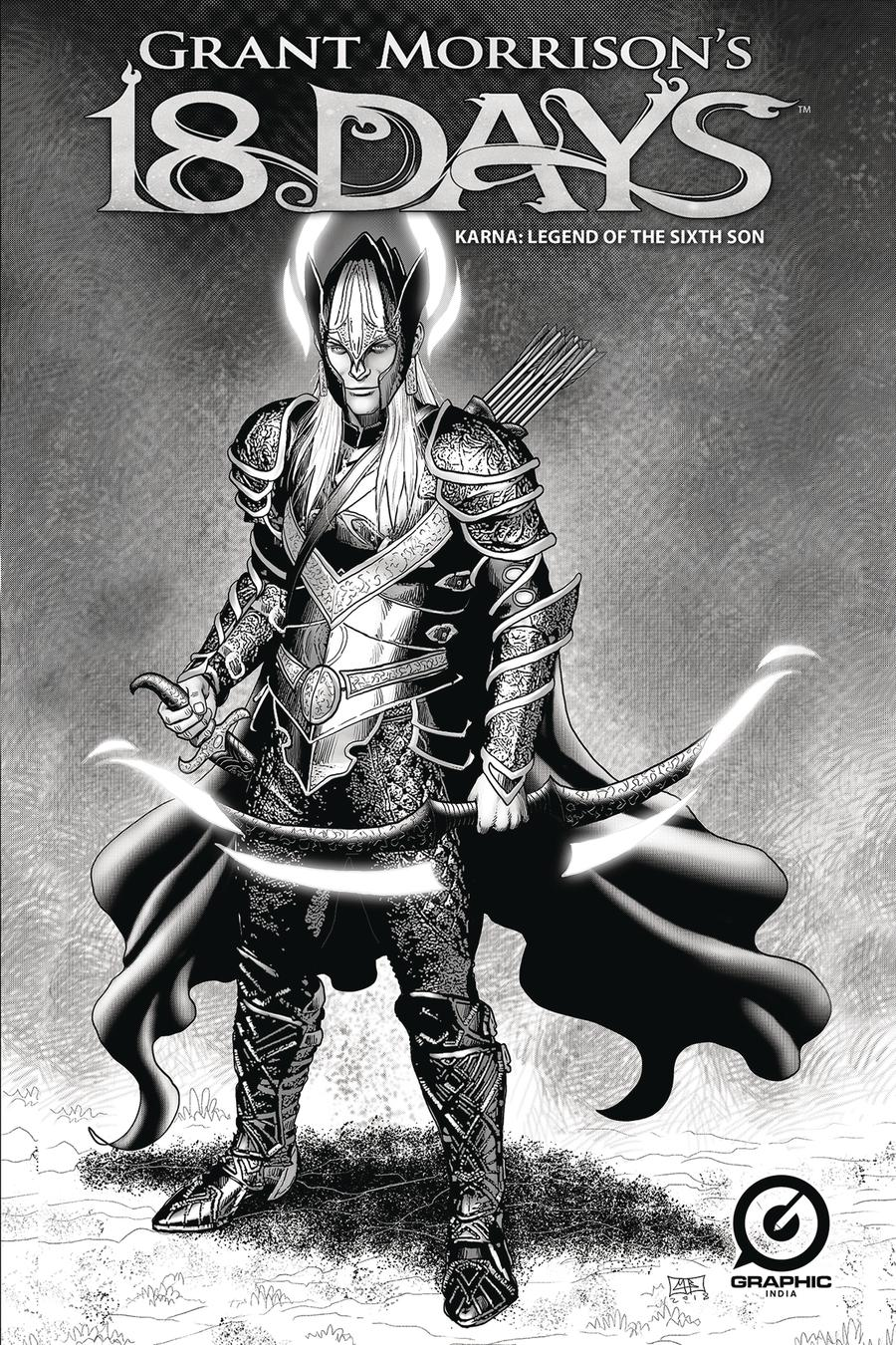 Grant Morrisons 18 Days Karna Legend Of The Sixth Son One Shot Cover D Variant Marc Borstel Limited Edition Battle Armor Cover