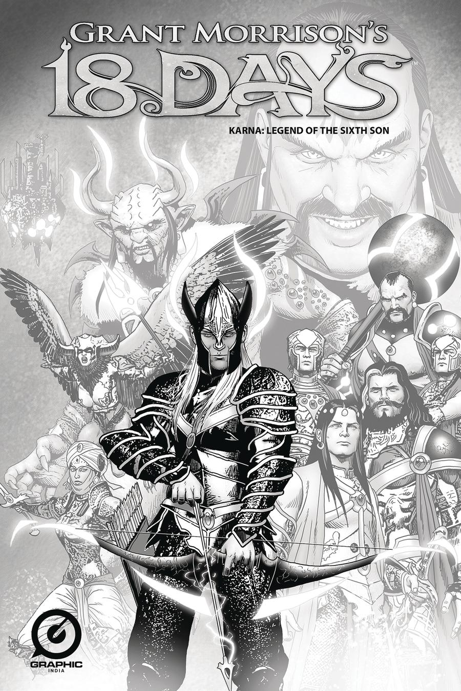 Grant Morrisons 18 Days Karna Legend Of The Sixth Son One Shot Cover C Variant Marc Borstel Limited Edition Pencil Sketch Cover