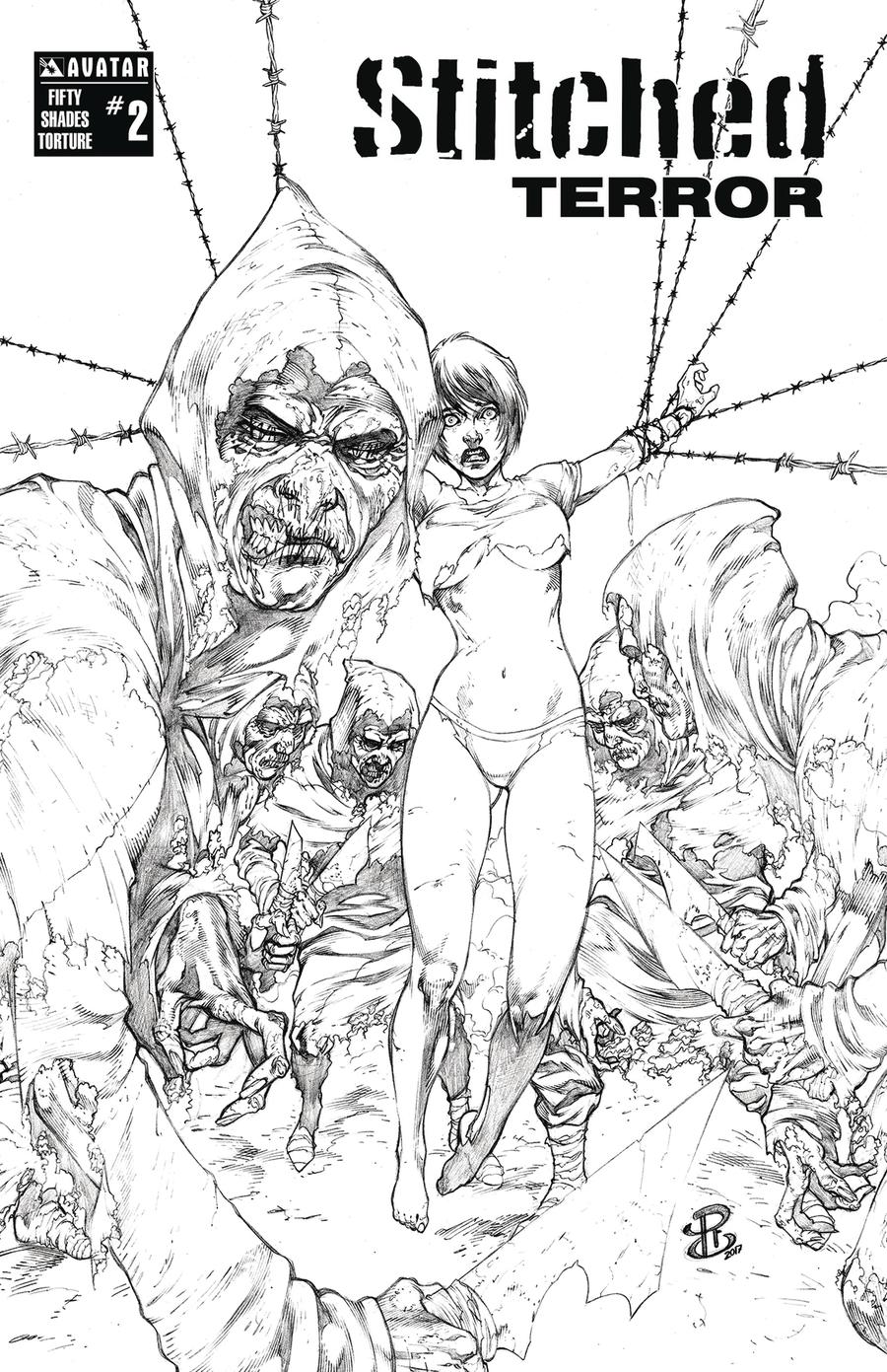 Stitched Terror #2 Cover G Fifty Shades Torture Cover