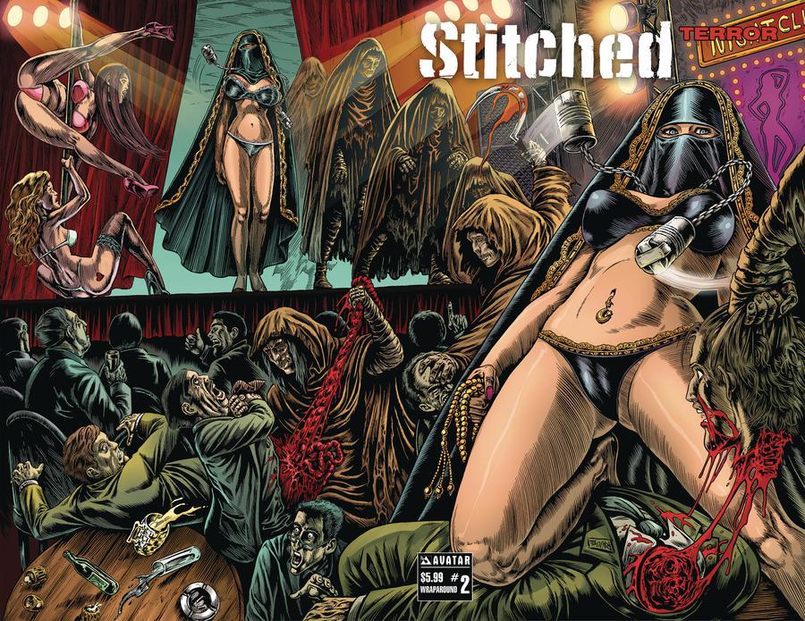 Stitched Terror #2 Cover B Wraparound Cover