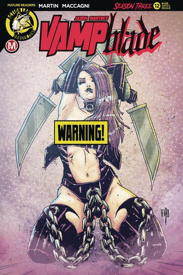 Vampblade Season 3 #12 Cover D Variant Brao Risque Cover