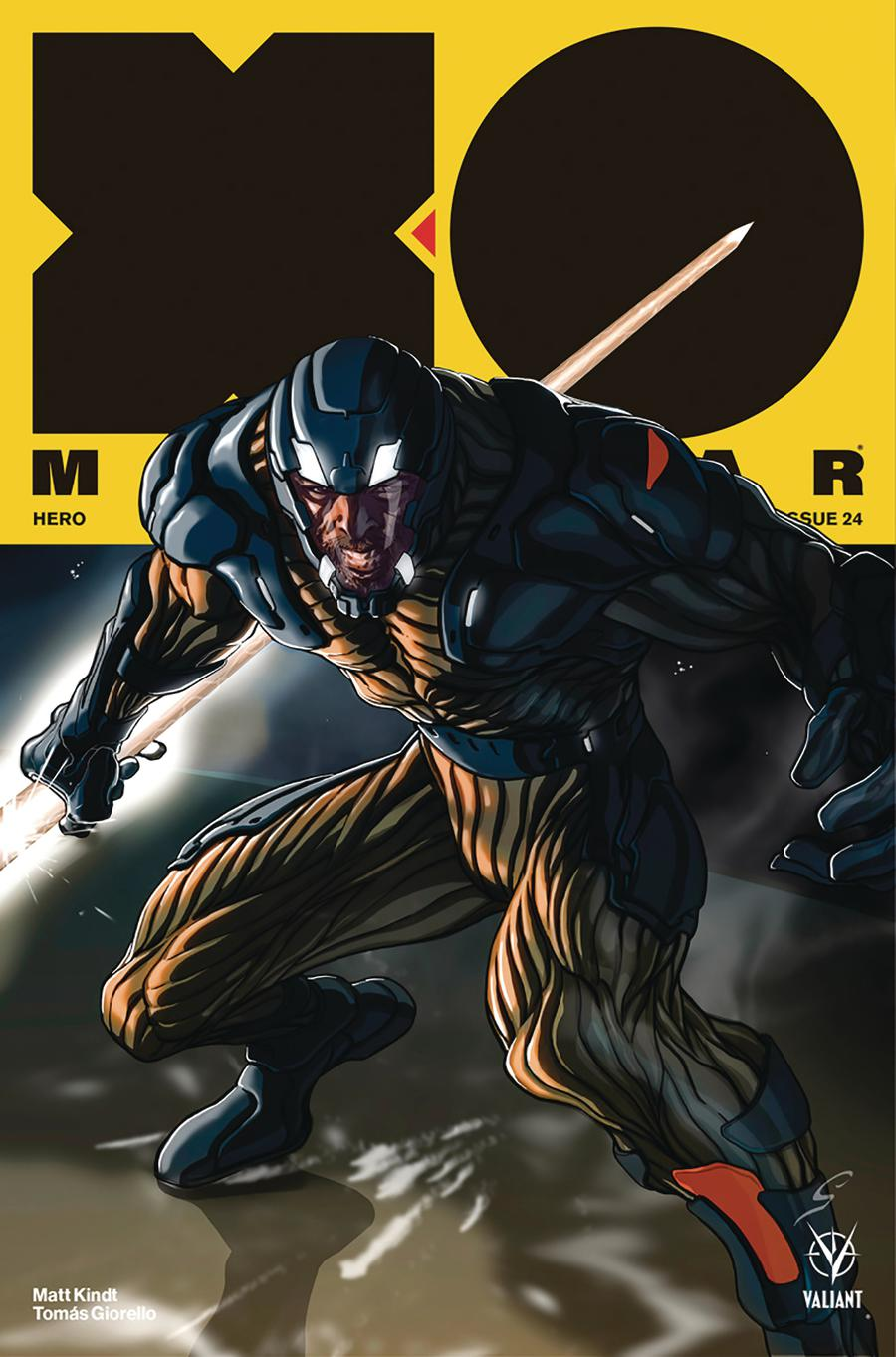 X-O Manowar Vol 4 #24 Cover B Variant Grey Williamson Cover