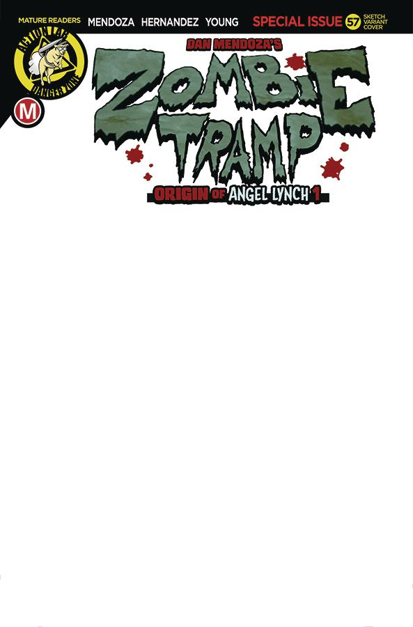 Zombie Tramp Vol 2 #57 Cover G Variant Blank Cover
