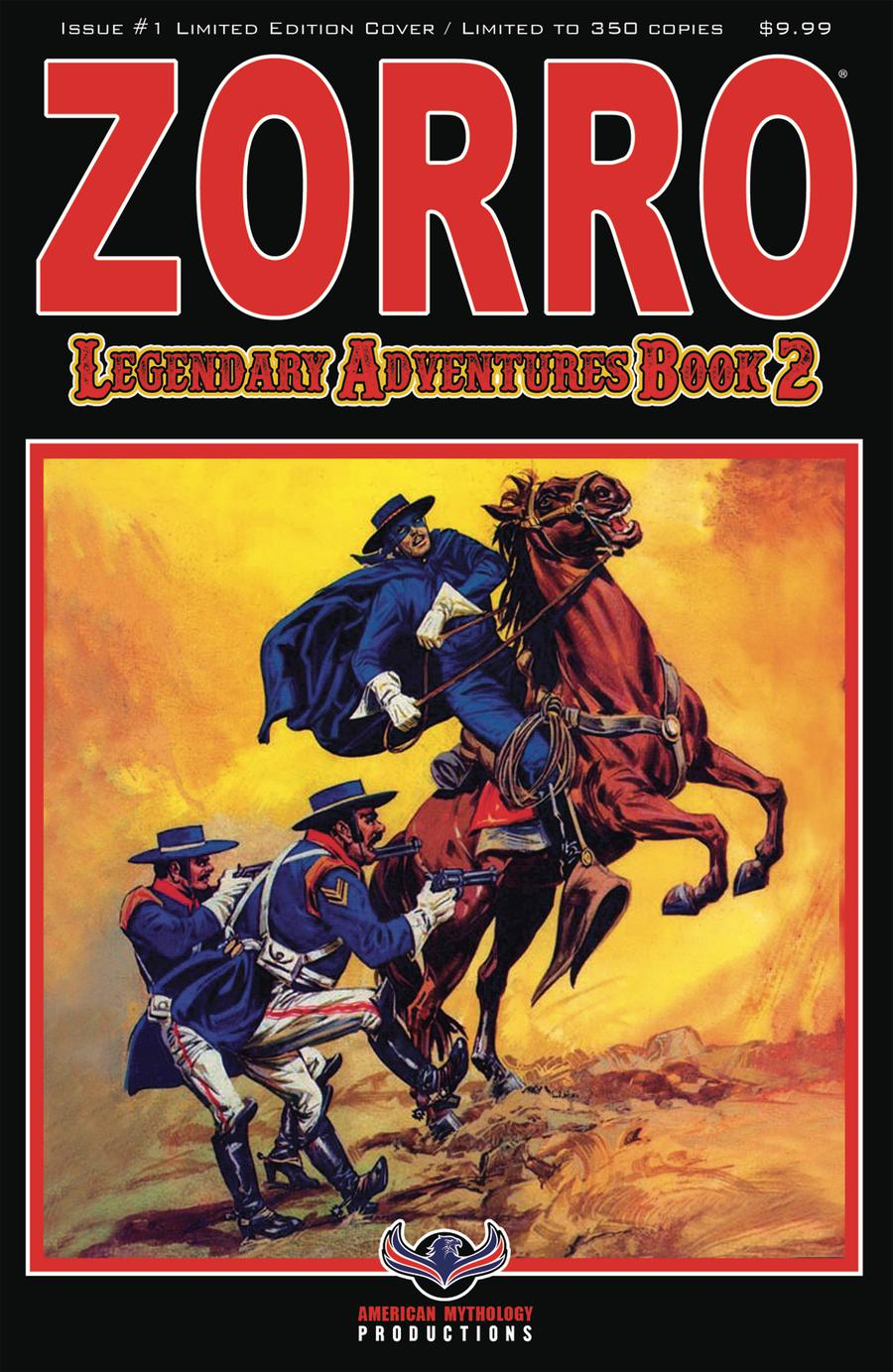 Zorro Legendary Adventures Book 2 #1 Cover B Variant Francisco Cueto Blazing Blades Limited Edition Cover