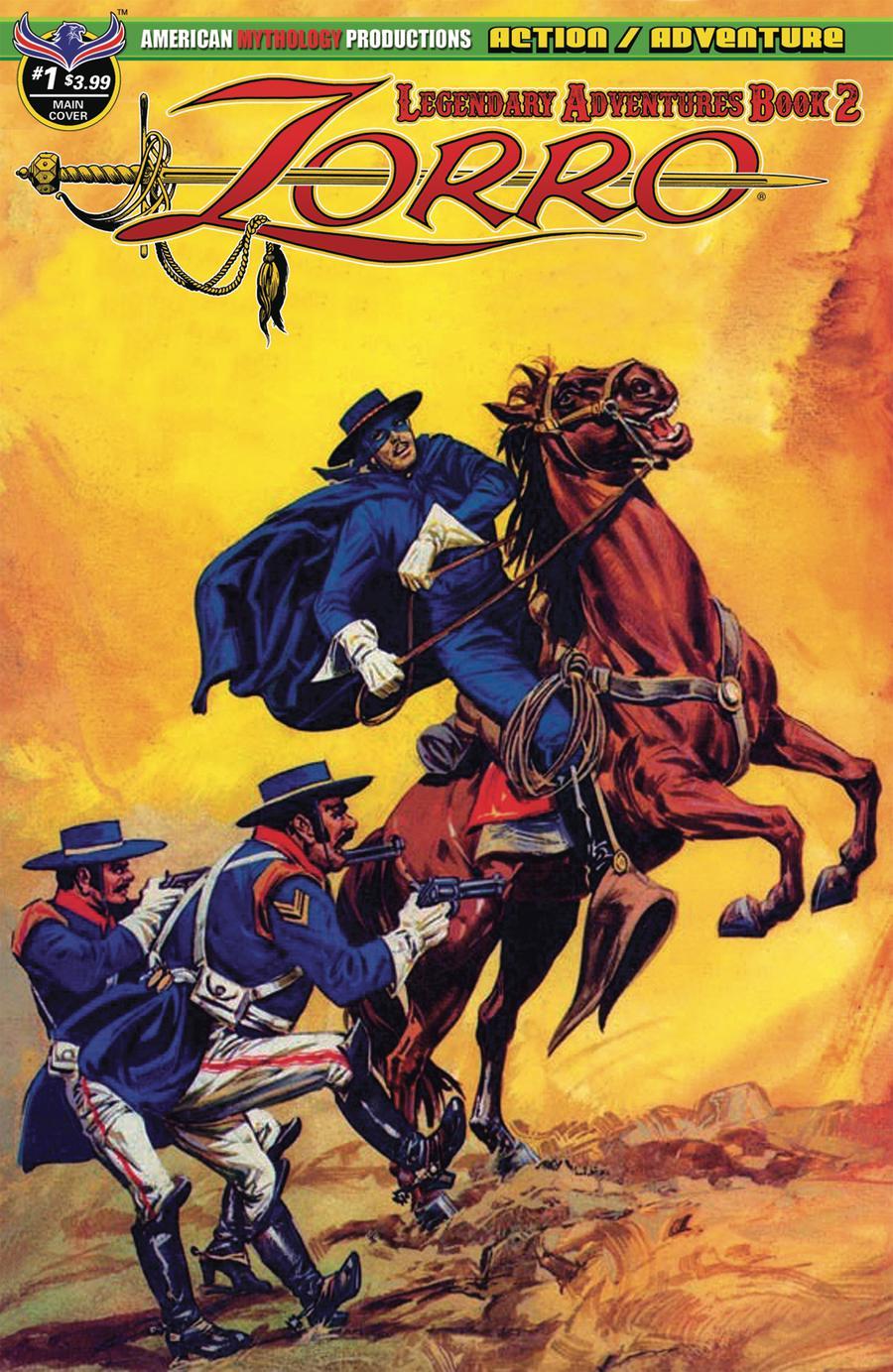 Zorro Legendary Adventures Book 2 #1 Cover A Regular Francisco Cueto Cover