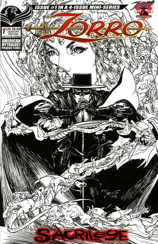 Zorro Sacrilege #1 Cover D Variant Michael William Kaluta Century Edition Limited Cover