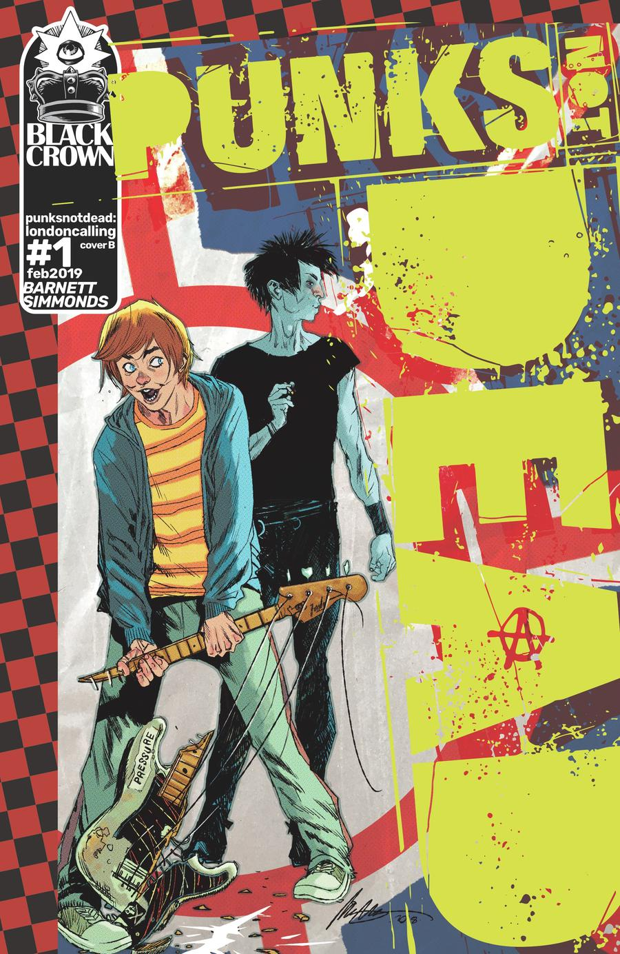 Punks Not Dead London Calling #1 Cover B Variant Rafael Albuquerque Cover
