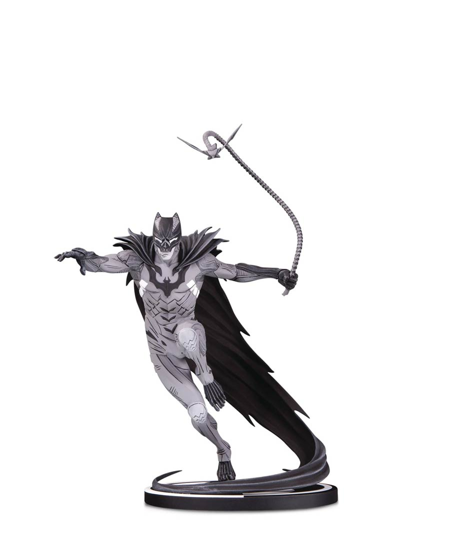 Batman Black & White Series Original Mini Statue By Kenneth Rocafort