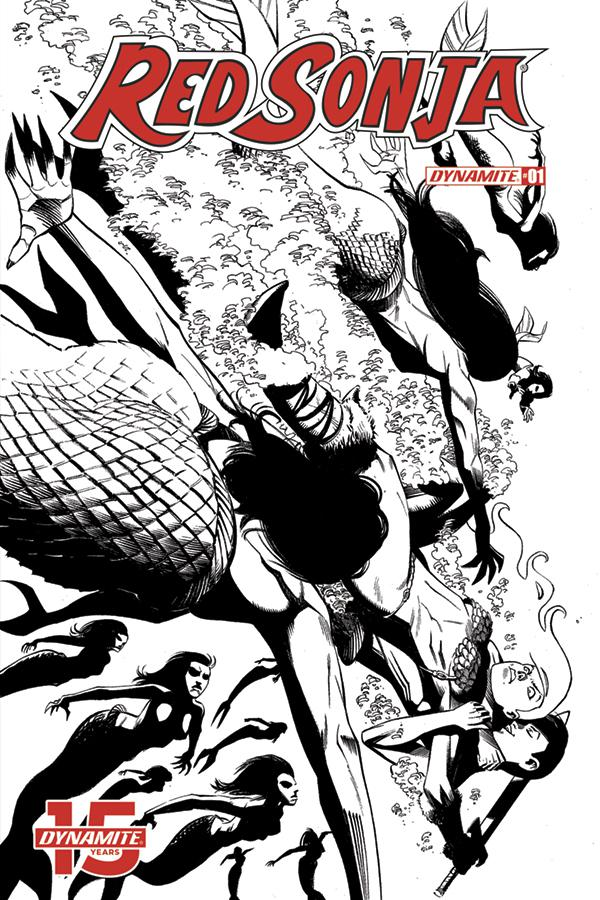 Red Sonja Vol 8 #1 Cover M Incentive Seduction Black & White Cover