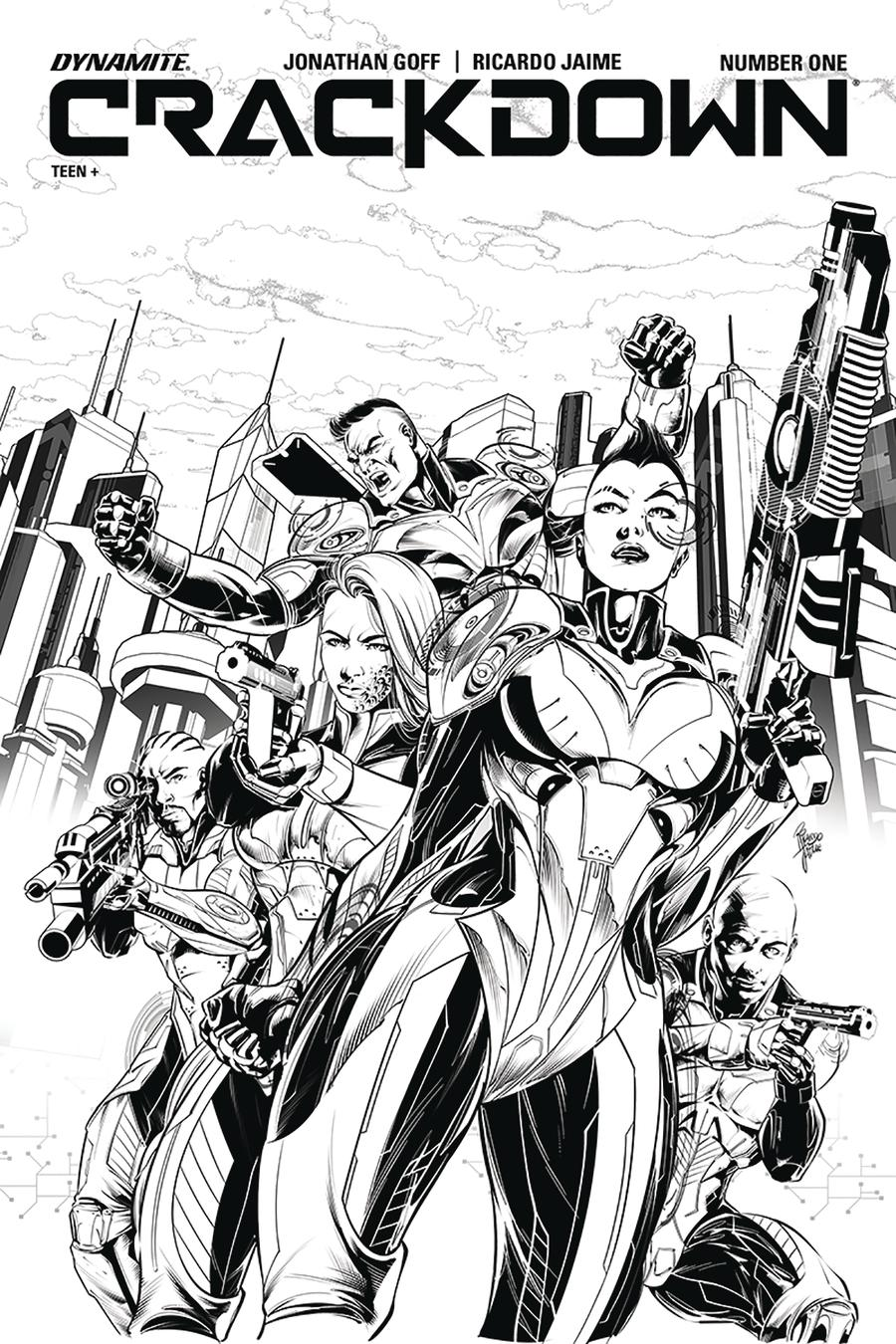 Crackdown #1 Cover B Incentive Ricardo Jaime Black & White Cover