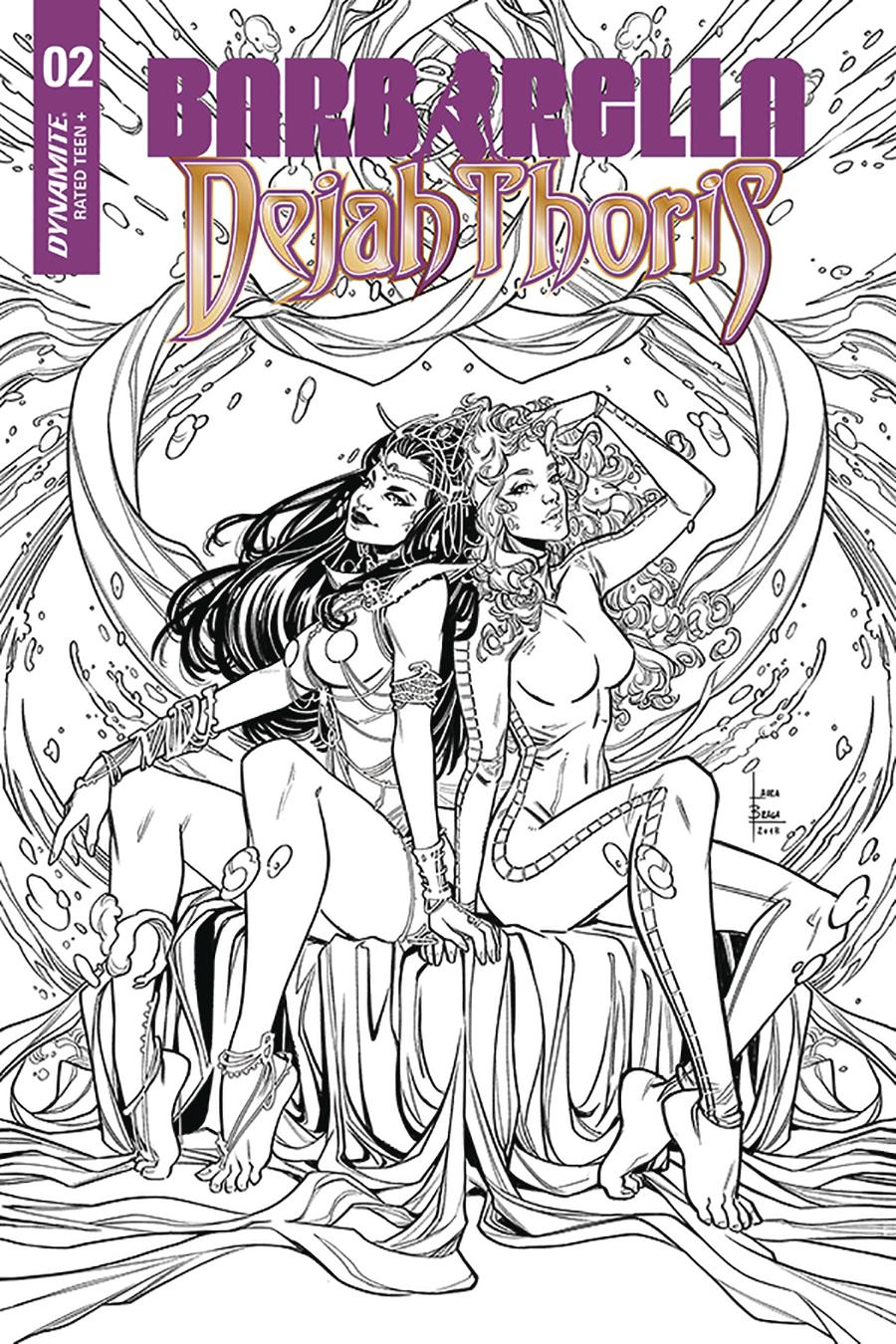 Barbarella Dejah Thoris #2 Cover H Incentive Laura Braga Black & White Cover