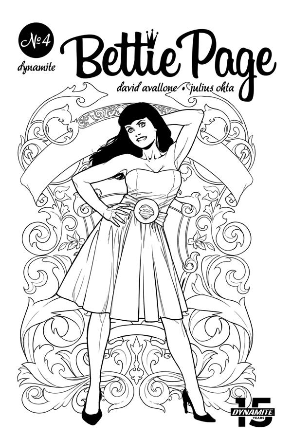Bettie Page Vol 2 #4 Cover I Incentive Julius Ohta Black & White Cover