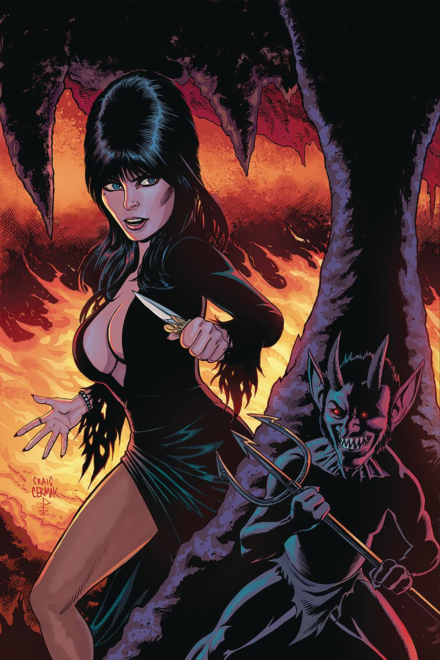 Elvira Mistress Of The Dark Vol 2 #8 Cover F Incentive Craig Cermak Virgin Cover
