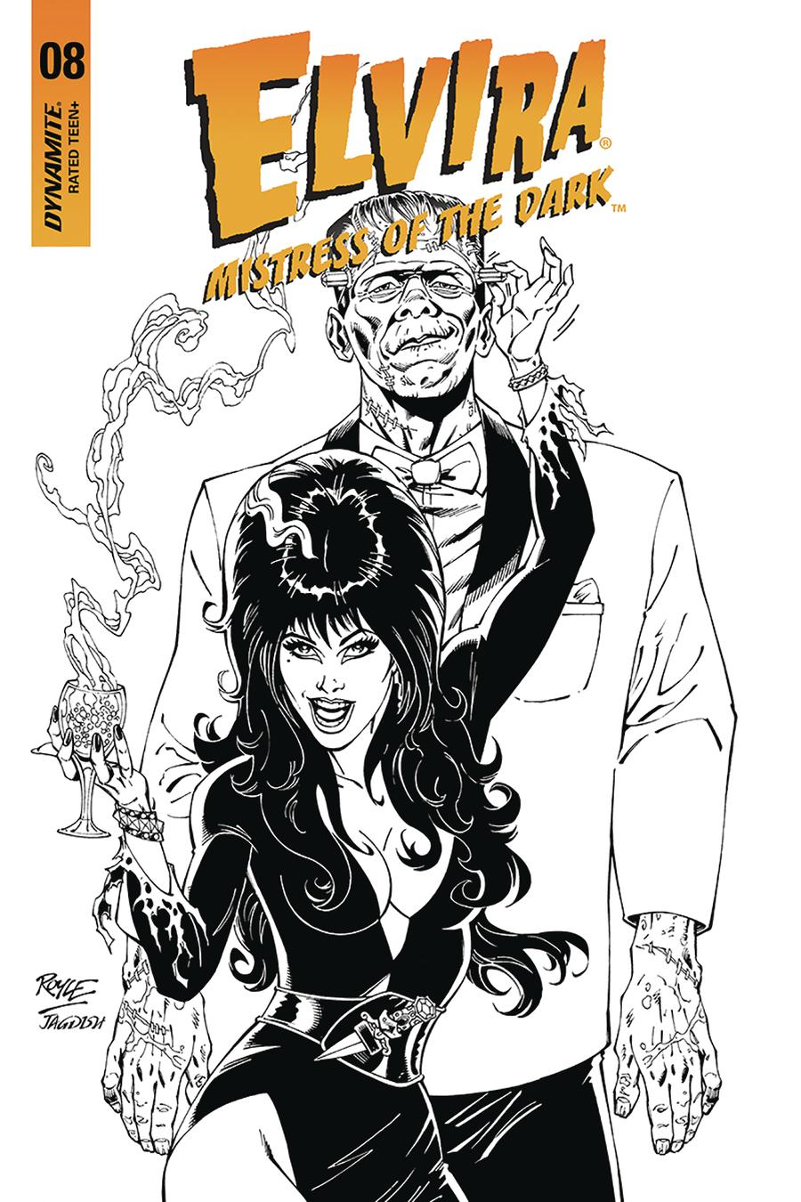 Elvira Mistress Of The Dark Vol 2 #8 Cover H Incentive John Royle Black & White Cover
