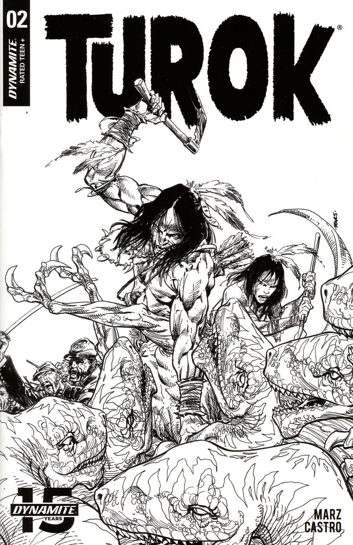 Turok Vol 3 #2 Cover C Incentive Bart Sears Black & White Cover