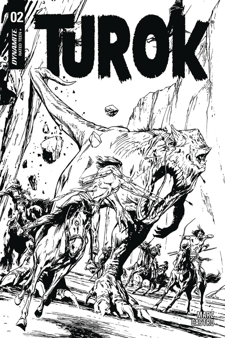 Turok Vol 3 #2 Cover D Incentive Butch Guice Black & White Cover