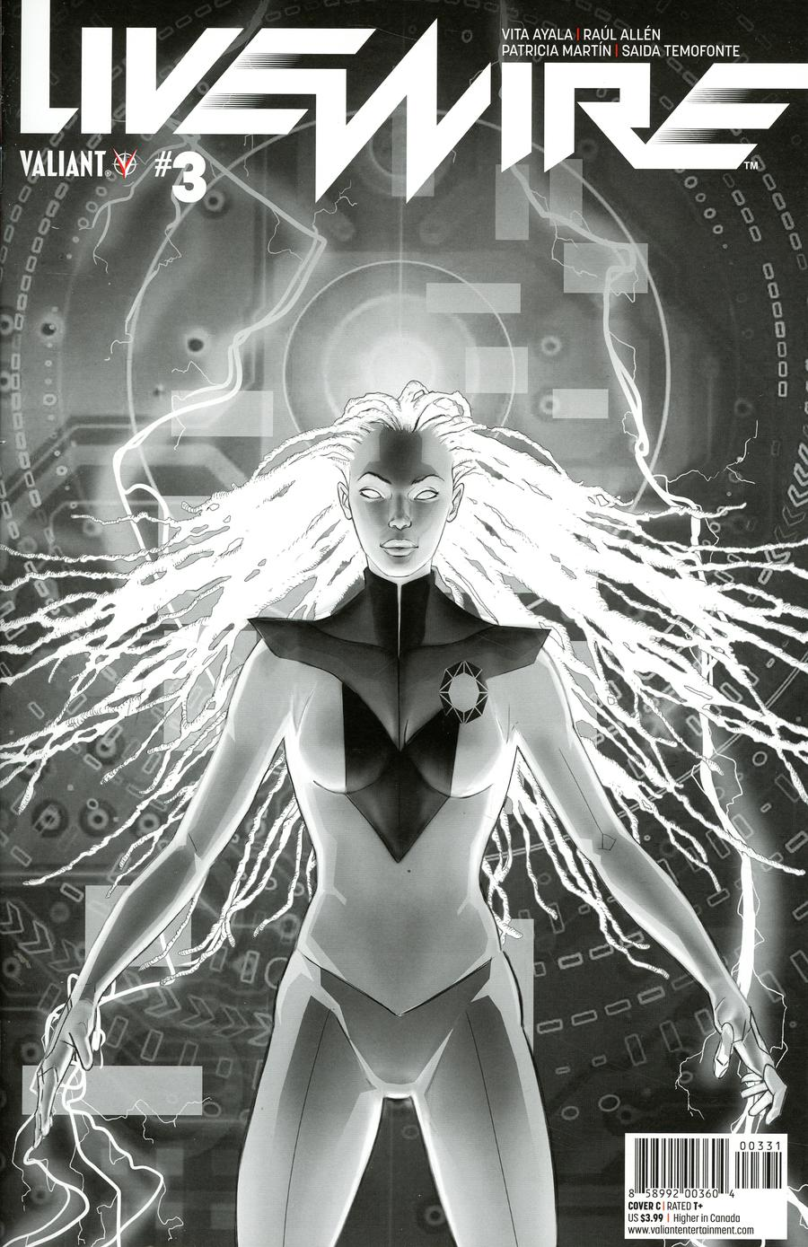 Livewire #3 Cover D Incentive Adam Pollina Black & White Cover