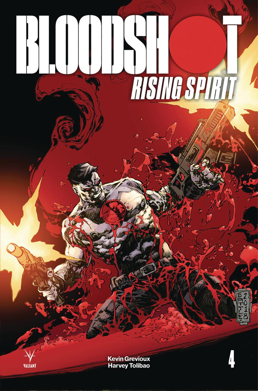 Bloodshot Rising Spirit #4 Cover D Incentive Eric Battle Variant Cover