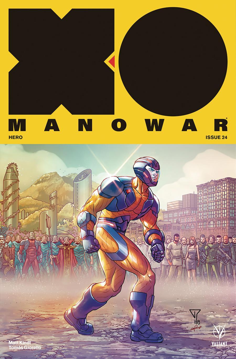 X-O Manowar Vol 4 #24 Cover E Incentive Francis Portela Interlocking Variant Cover