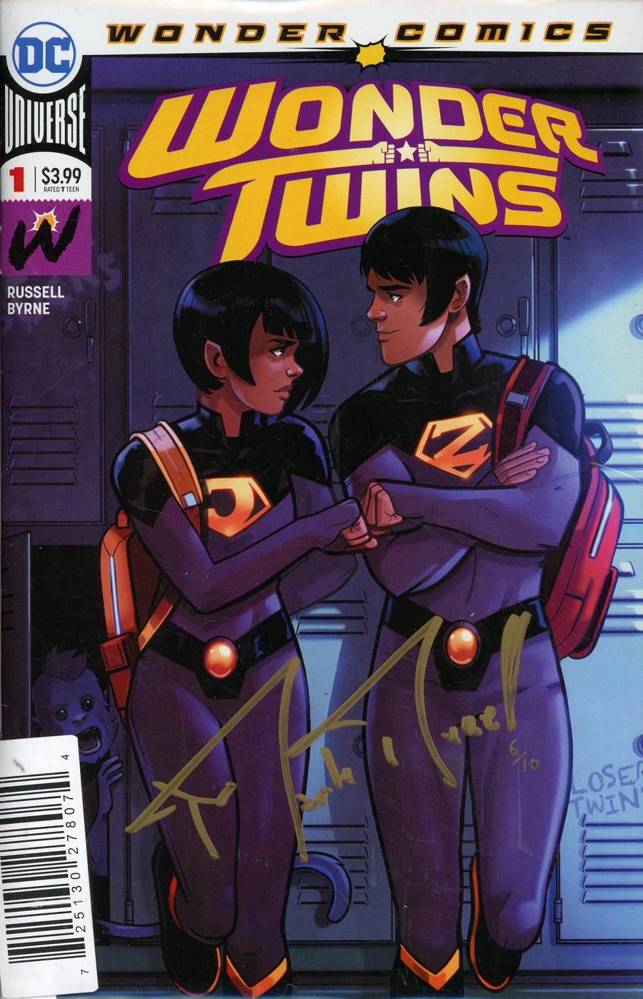 Wonder Twins #1 Cover D DF Gold Elite Signature Series Signed By Mark Russell