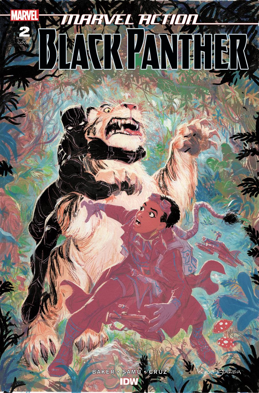 Marvel Action Black Panther #2 Cover B Incentive Kyle Baker Variant Cover