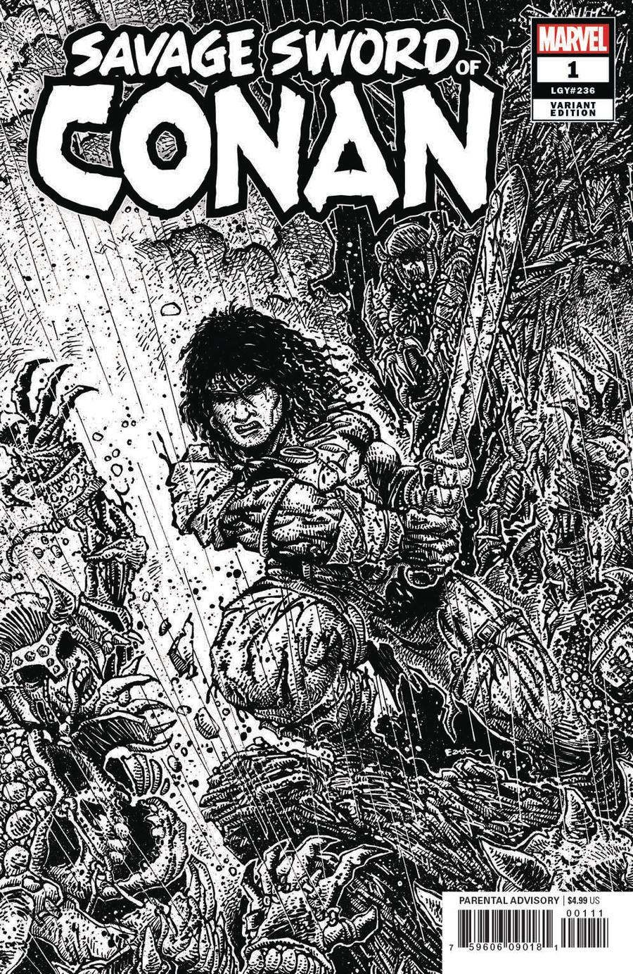 Savage Sword Of Conan #1 Cover F Incentive Kevin Eastman Sketch Variant Cover
