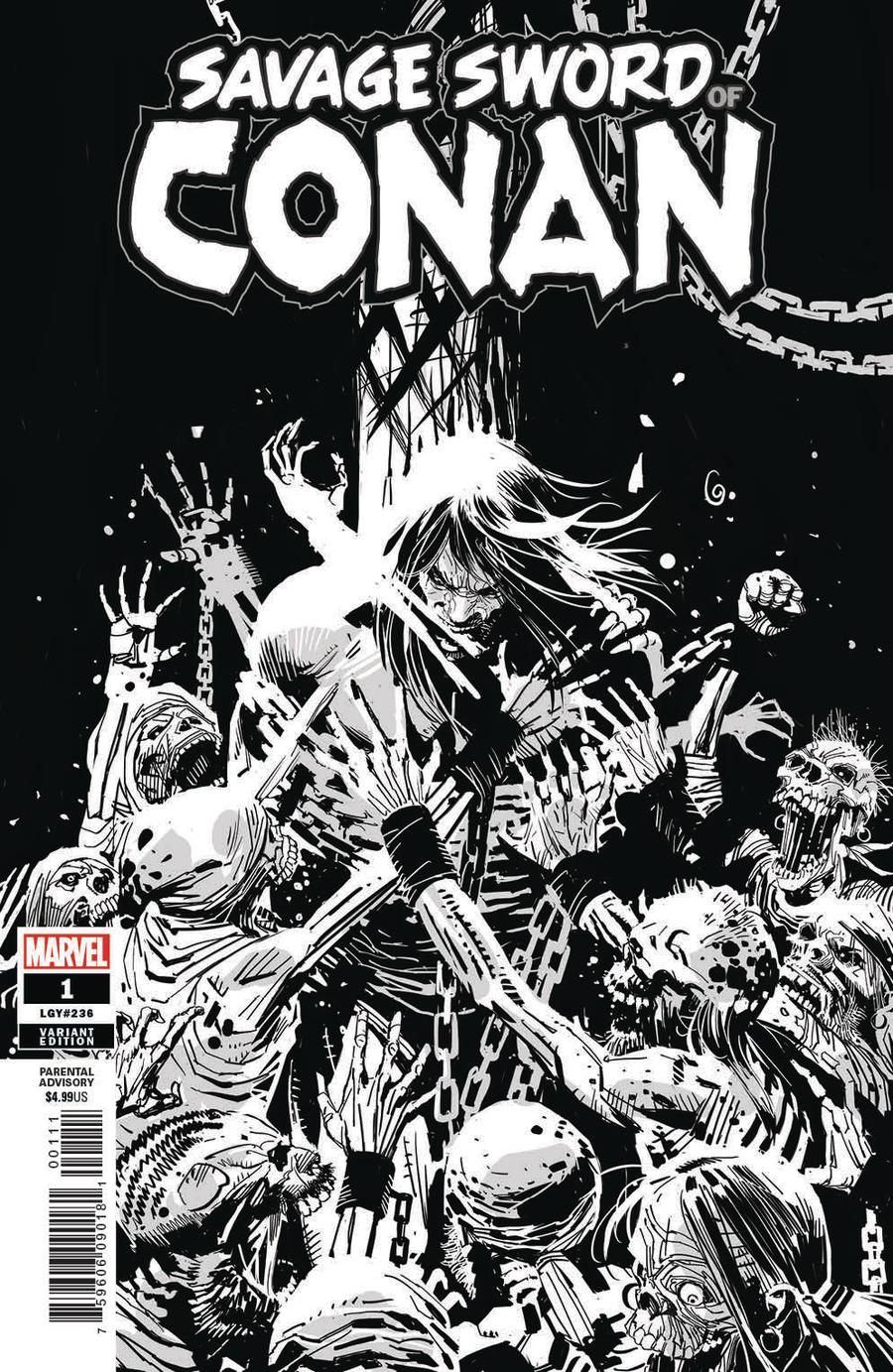 Savage Sword Of Conan #1 Cover G Incentive Ron Garney Sketch Variant Cover