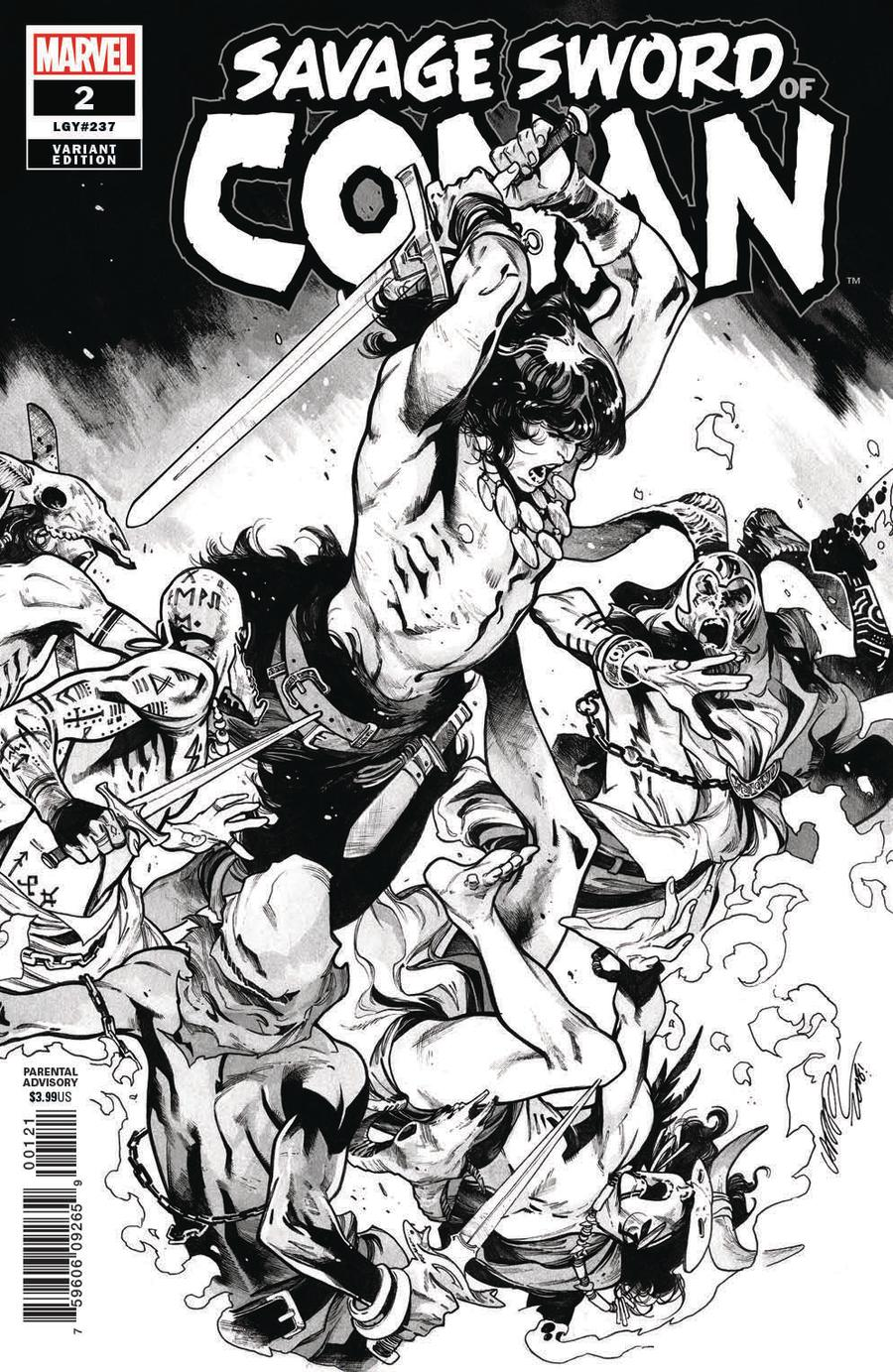 Savage Sword Of Conan #2 Cover C Incentive Pepe Larraz Sketch Variant Cover