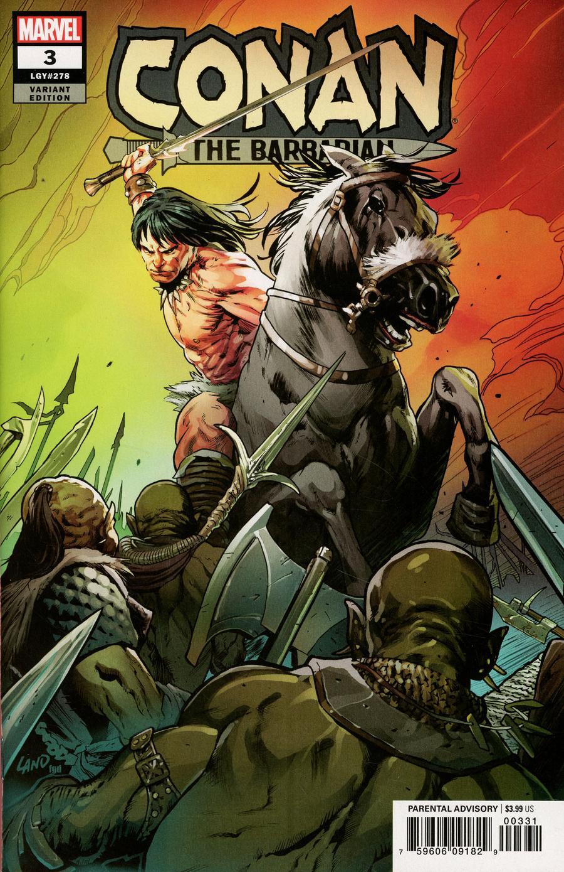 Conan The Barbarian Vol 4 #3 Cover E Incentive Greg Land Variant Cover