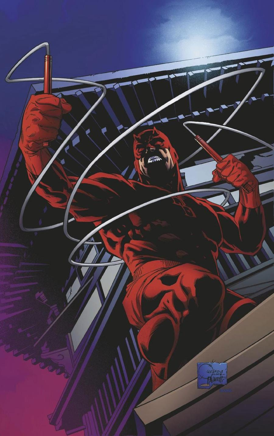 Daredevil Vol 6 #1 Cover H Incentive Joe Quesada Hidden Gem Virgin Variant Cover