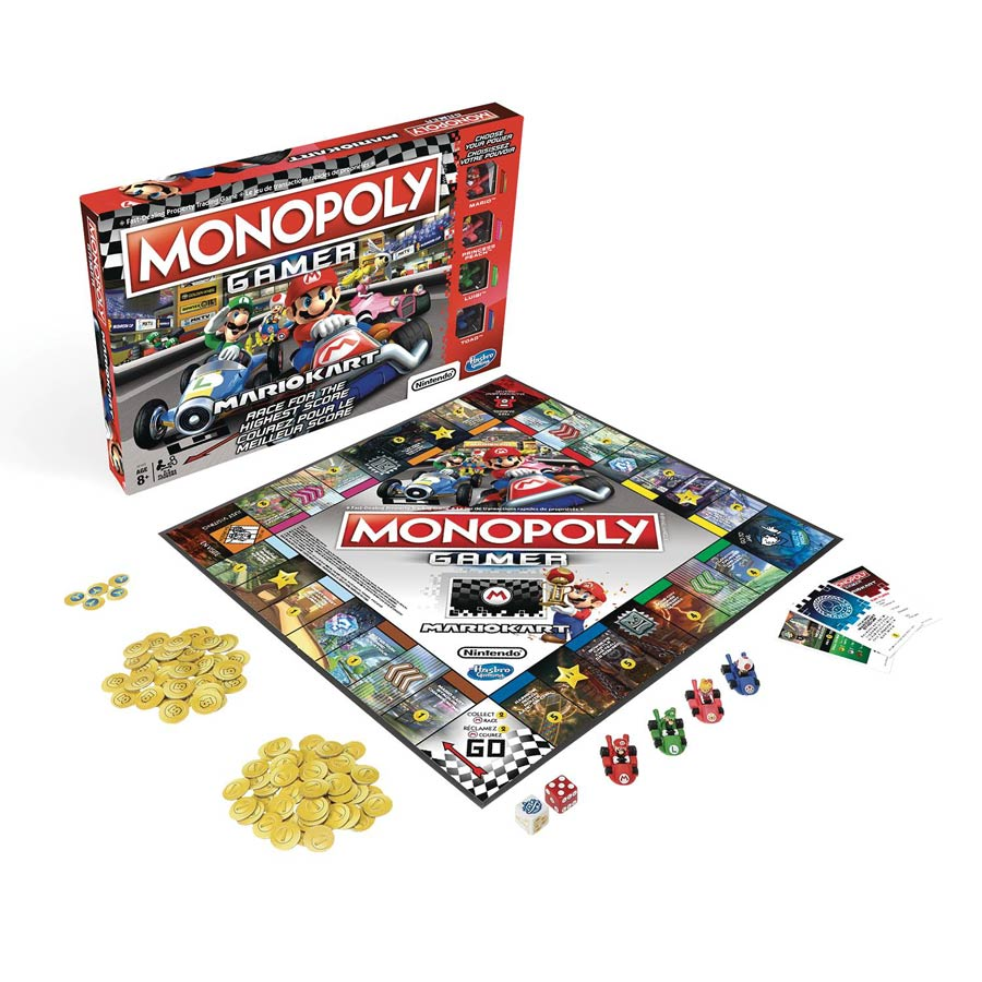 Monopoly Gamer Mario Kart Edition Board Game