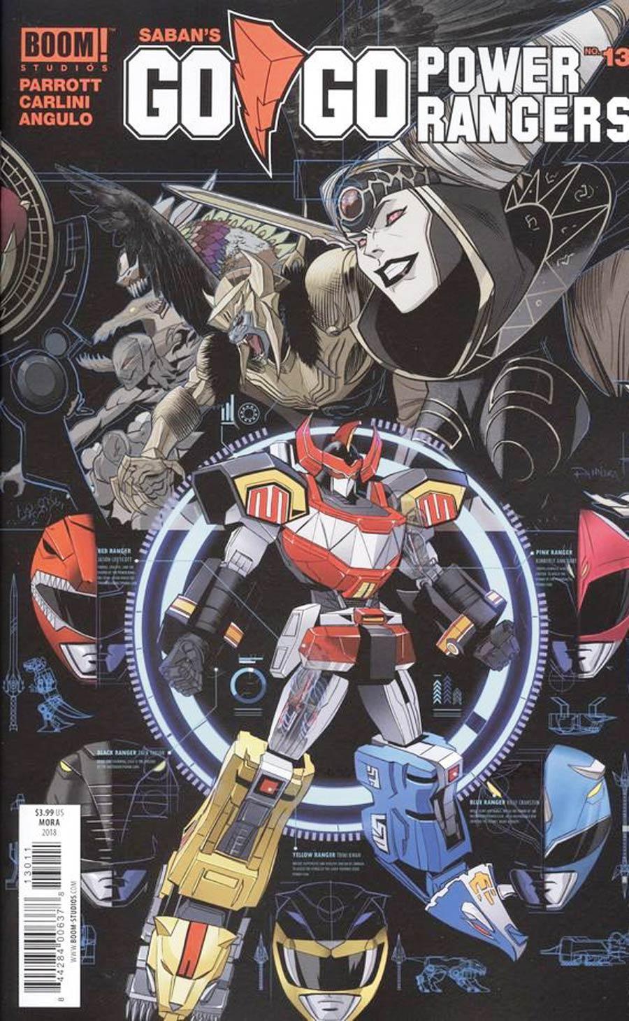 Sabans Go Go Power Rangers #13 Cover A Regular Dan Mora Cover (Shattered Grid Epilogue)