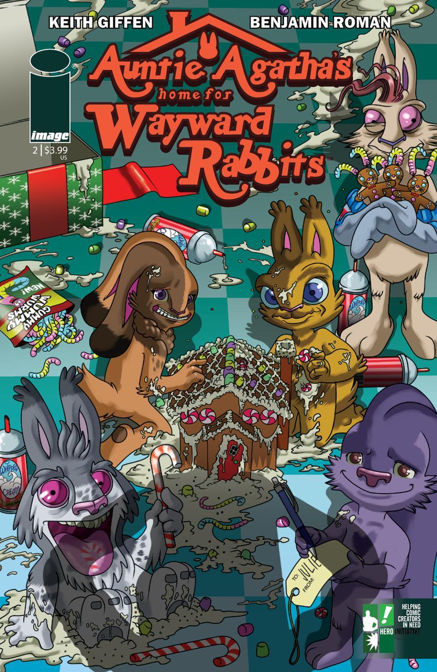 Auntie Agathas Home For Wayward Rabbits #2 Cover B Variant Benjamin Roman Hero Initiative Cover