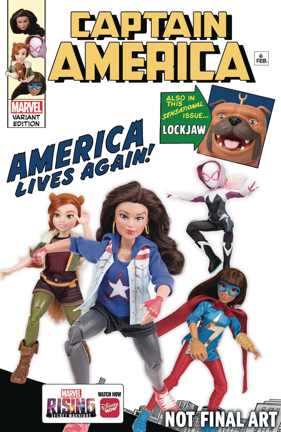 Captain America Vol 9 #6 Cover D Variant Marvel Rising Action Doll Homage Cover
