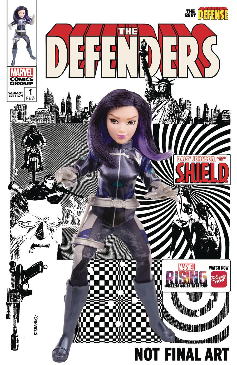 Defenders Best Defense #1 Cover C Variant Marvel Rising Action Doll Homage Cover (Best Defense Part 5)