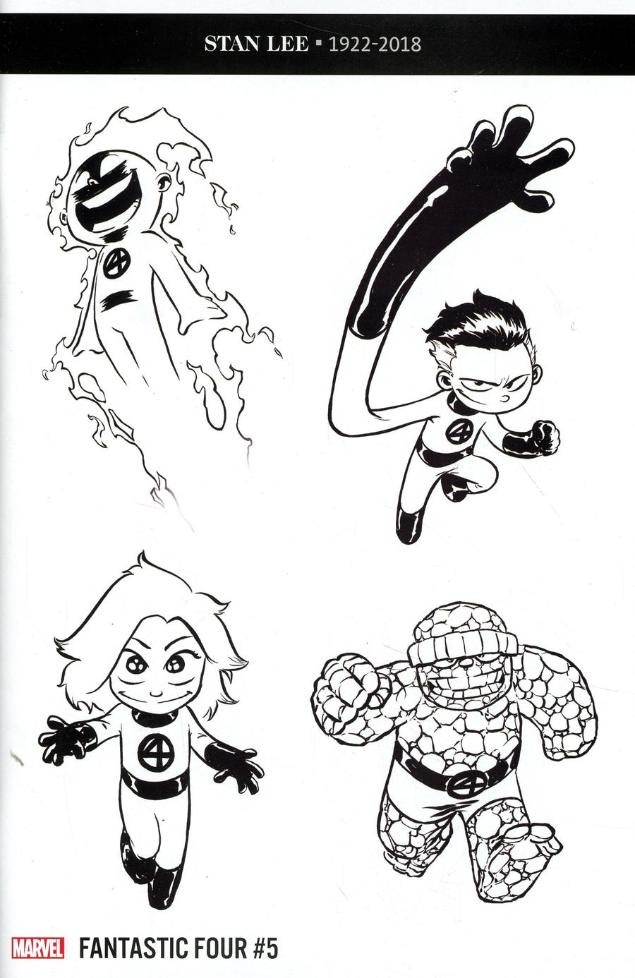 Fantastic Four Vol 6 #5 Cover L Incentive Skottie Young Party Sketch Variant Cover