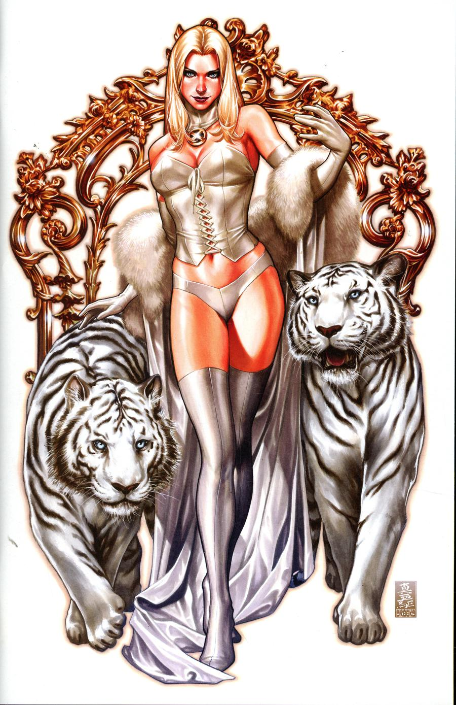 Uncanny X-Men Vol 5 #1 Cover Z Mark Brooks Convention Exclusive Emma Frost Virgin Variant Cover