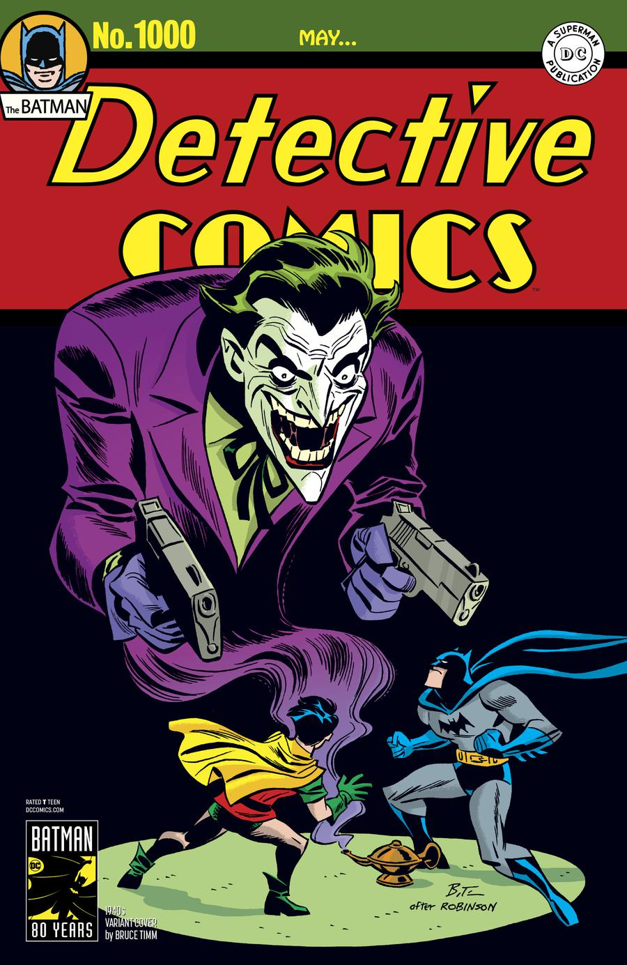 Detective Comics Vol 2 #1000 Cover C Variant Bruce Timm 1940s Cover