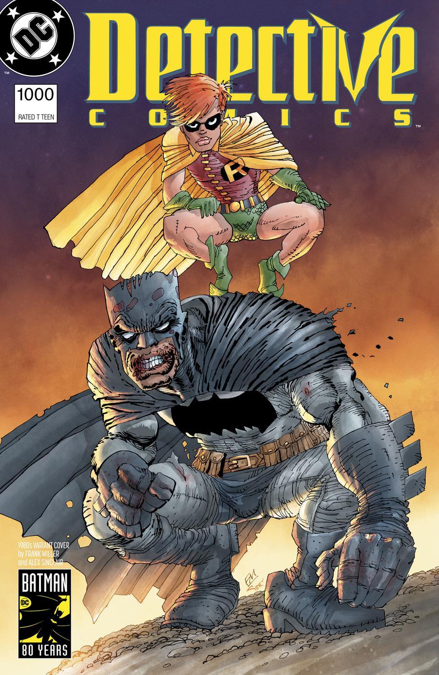 Detective Comics Vol 2 #1000 Cover G Variant Frank Miller 1980s Cover