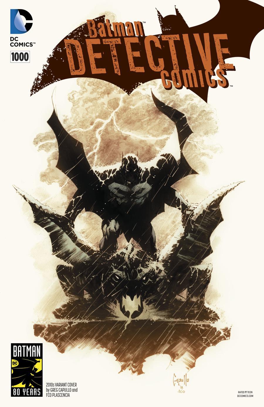 Detective Comics Vol 2 #1000 Cover J Variant Greg Capullo 2010s Cover
