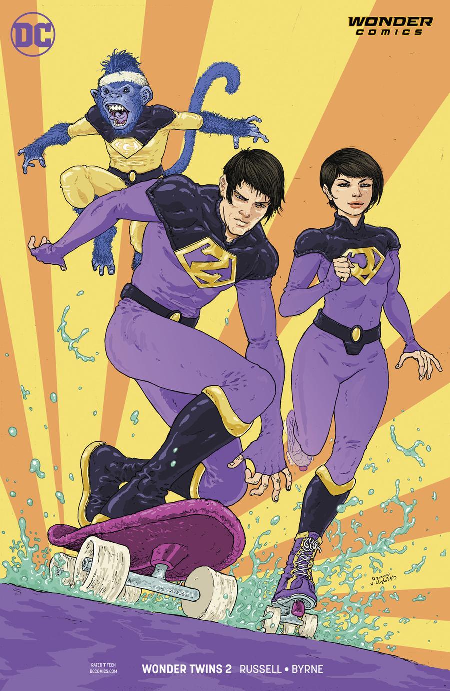 Wonder Twins #2 Cover B Variant Ramon Villalobos Cover