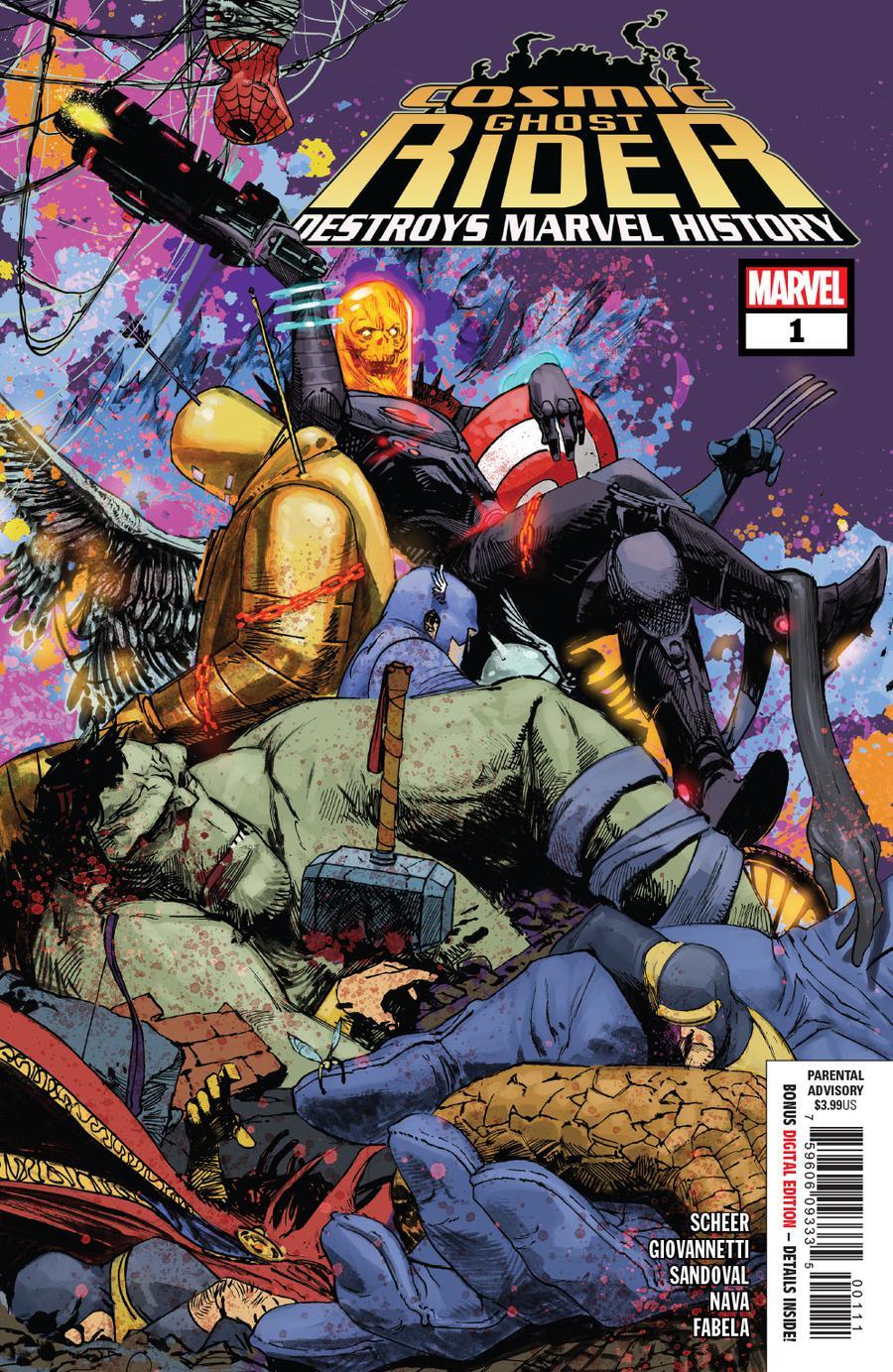 Cosmic Ghost Rider Destroys Marvel History #1 Cover A 1st Ptg Regular Gerardo Zaffino Cover