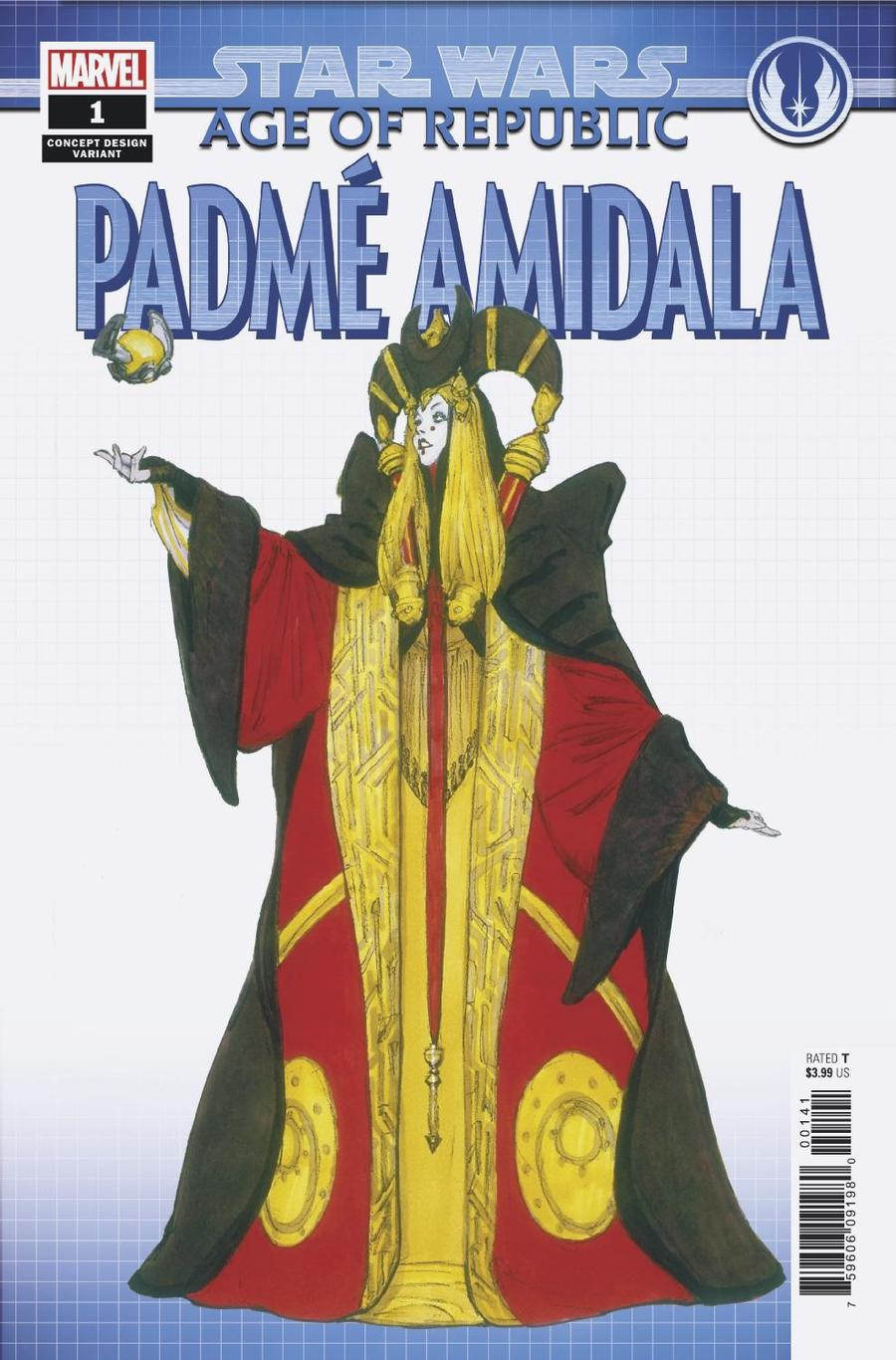 Star Wars Age Of Republic Padme Amidala #1 Cover B Variant Concept Design Cover