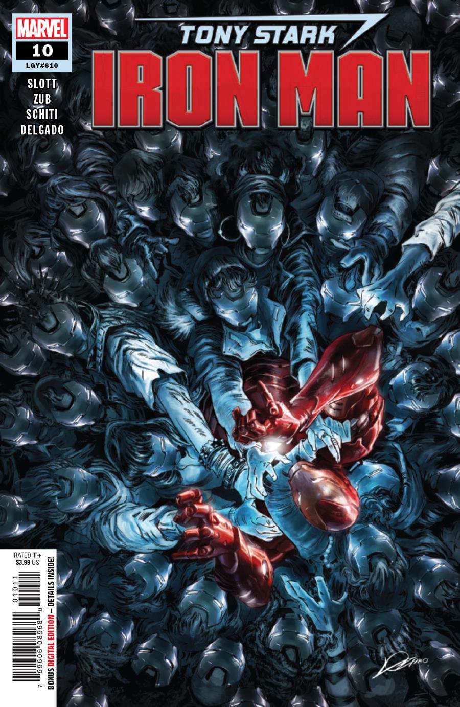 Tony Stark Iron Man #10 Cover A Regular Alexander Lozano Cover